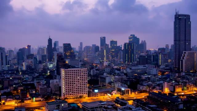 Bangkok dawn - Zoom Shot video