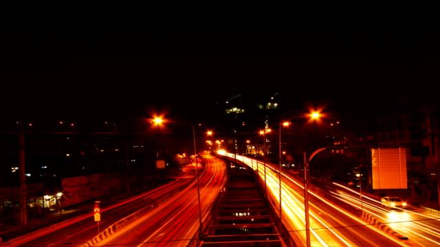 Bangkok Downtown Rush Hour at dusk Time lapse video