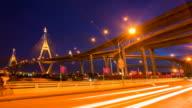 Bangkok Industrial Bridge Time lapse video