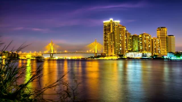 Bangkok Modern City Riverfront video