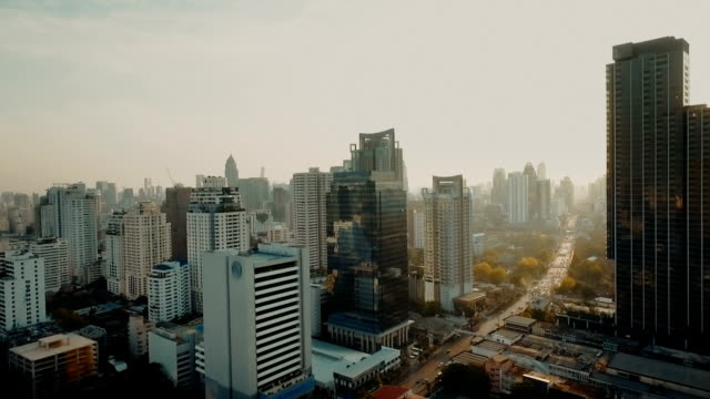 Bangkok modern city skyline video
