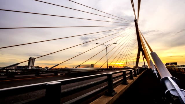 Bangkok Param 8  Bridge Time lapse from Twilight to Night video