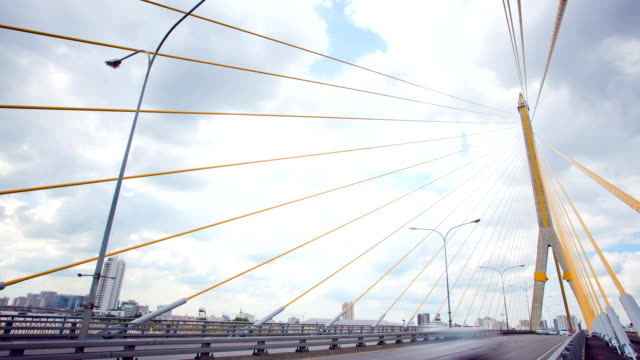 Bangkok Rama-VIII Bridge Time lapse video