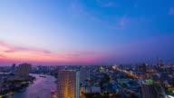 Bangkok skyline at night video