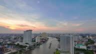 Bangkok skyline at sunset video