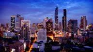 Bangkok Skyline Timelapse, Thailand video