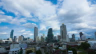 Bangkok, Thailand  : The cloud is flowing of over the high-rise building. video