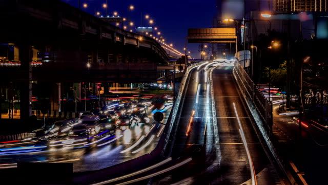 Bangkok Traffic Time Lapse - Stock video video