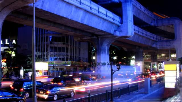 Bangkok traffic time lapse video