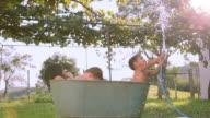 banho de banheira video