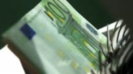 bank counter close up (p. v) video