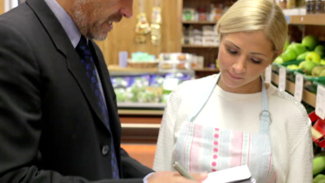 Bank Manager Meeting With Female Owner Of Farm Shop video