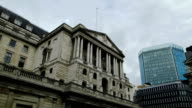 Bank of England, London timelapse wide video