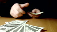 Banknotes dollars video