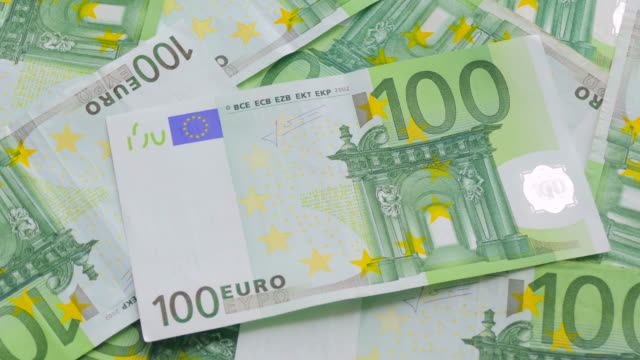 Banknotes in denomination one hundred euro video
