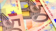 banknotes in denominations of 50 euros video