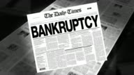 Bankruptcy - Newspaper Headline (Intro + Loops) video