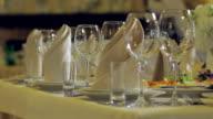 Banquet in the restaurant. video