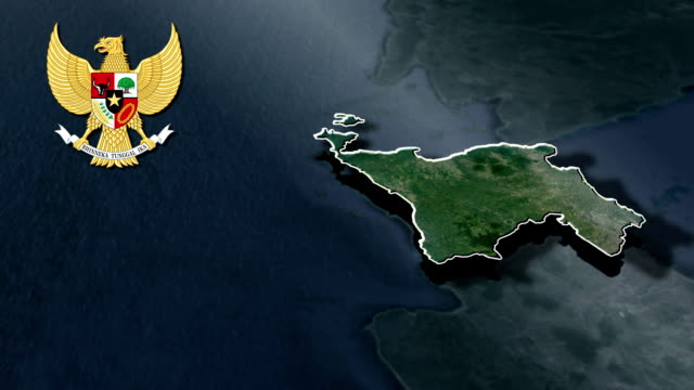 Banten with Coat Of Arms Animation Map video