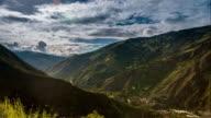 baños timelapse of mountainss in ecuador video