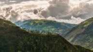 baños valley tiemlapse in ecuador video