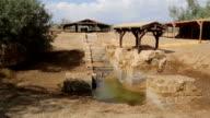 Baptismal Site, where Jesus was baptised by John the Baptist video