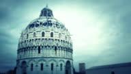 Baptistery at Campo dei Miracoli in Pisa video