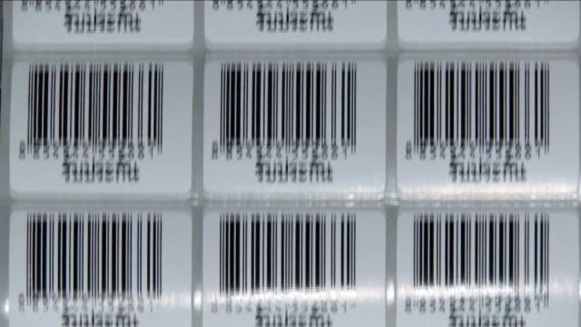 Bar Code Labels Printing Loop video