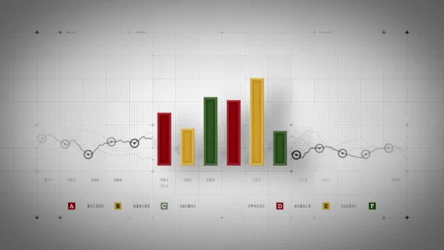 Bar Graph Loop Warm video