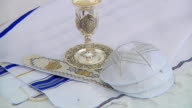 Bar Mitzhvah jewish religious symbol Prayer Shawl - Tallit, Jewish religious symbol video