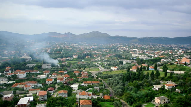 Bar, Old Town. Montenegro. View from the fortress in the old tow video