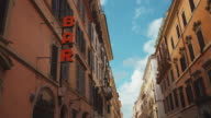Bar sign in Via del Corso in Rome video