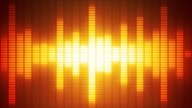 EQ Bar Waveform RED ORANGE video