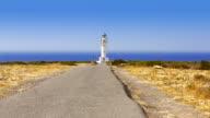 Barbaria cape lighthouse in formentera Balearic island video