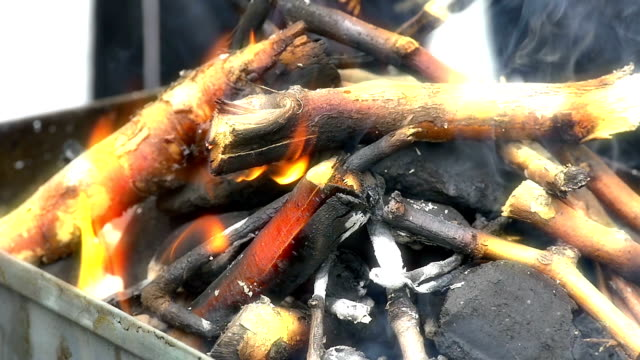 barbecue fire video