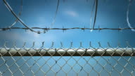Barbed wire fence animation. HD video
