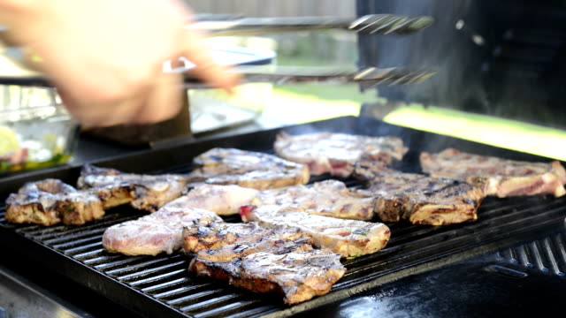 Barbeque Grilling Lamb Chops video