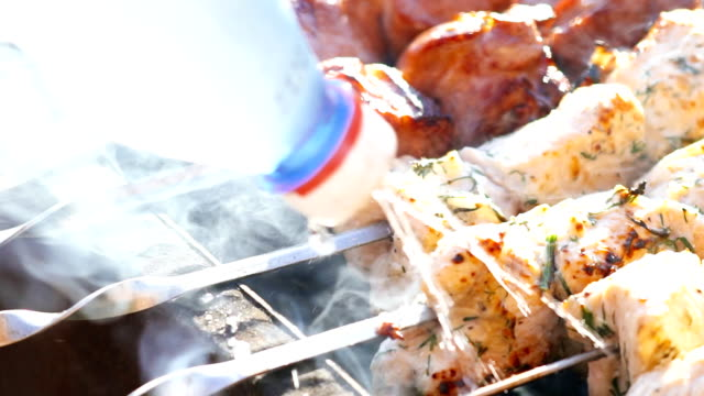 Barbeque on the grill video