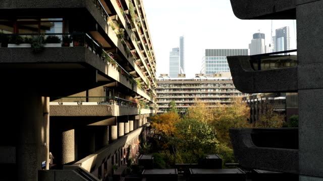 Barbican, London, flats detail. video