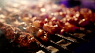 Bar-B-Q or BBQ grill of meat video