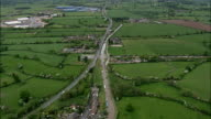 Barbridge Canal Junction  - Aerial View - England, Cheshire East, Stoke, United Kingdom video