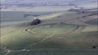 Barbury Castle  - Aerial View - England,  helicopter filming,  aerial video,  cineflex,  establishing shot,  United Kingdom video