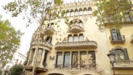 Barcelona catalonia building corner video