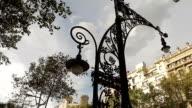 Barcelona catalonia lamp art nouveau video