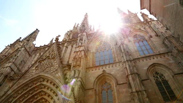 Barcelona Cathedral in barrio gotico video