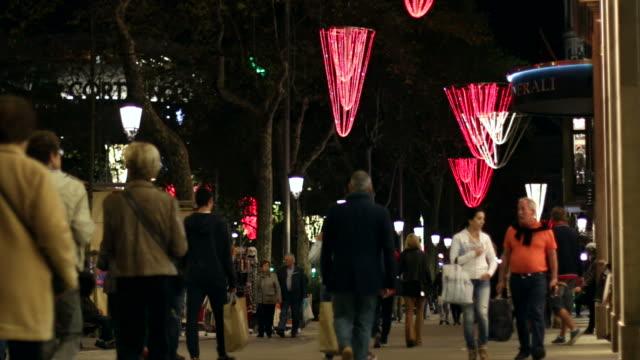 Barcelona Christmas Shopping at Night video