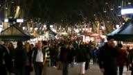 Barcelona Christmas Shopping Crowded Streets video
