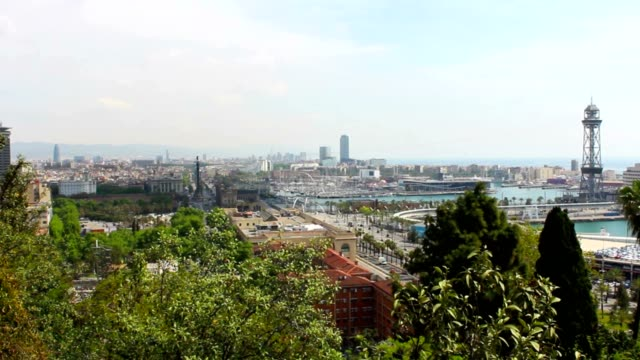 Barcelona Panorama, Spain, Viewpoint, Time Lapse video
