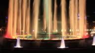 Barcelona's Magic fountain time lapse 4K video