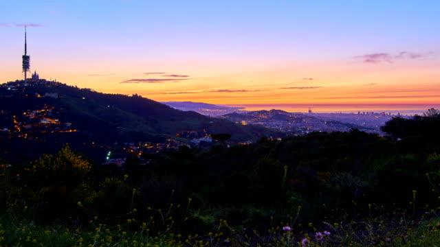 Barcelona's sunrise in May video